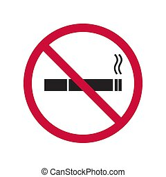 Vector icon are no Smoking. The symbol with the cigarette...