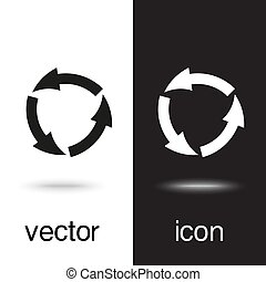 vector icon arrow circle on black and white background