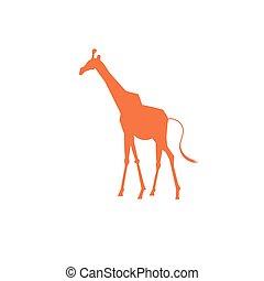 Vector icon bright giraffe