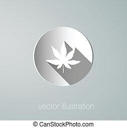 vector icon cannabis paper
