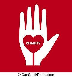 Vector icon charity