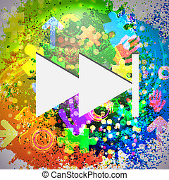 Vector icon. Colorful abstract background. Eps10