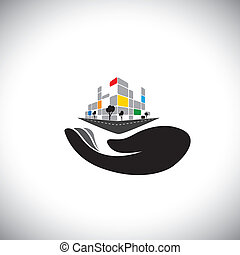 vector icon - concept of buying house, home, property. This...