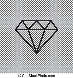 Vector icon diamond