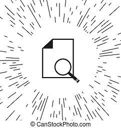 vector icon document