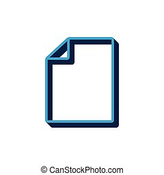 vector icon document isometric. 3d sign isolated on white background.