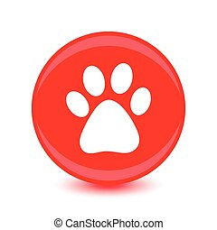 Vector icon footprint of an animal.