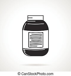 Vector icon for black supplements jar