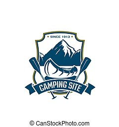 Vector icon for camping site sport adventure