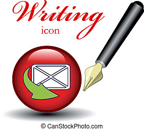Vector icon for writing message