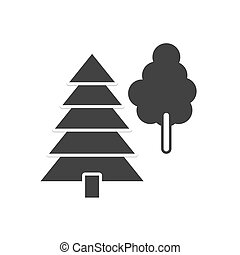 Vector icon forest