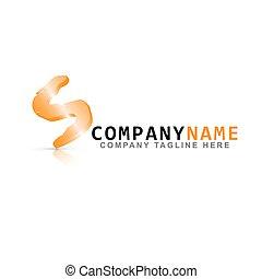 VECTOR ICON: Futuristic Orange Square Logo