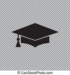 vector icon graduation cap