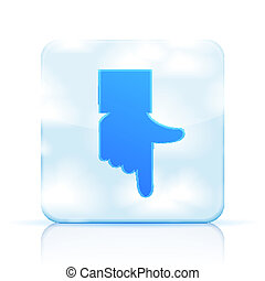 Vector icon hand with sky on white background. Eps 10