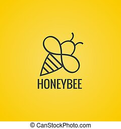 Vector icon honey bees.