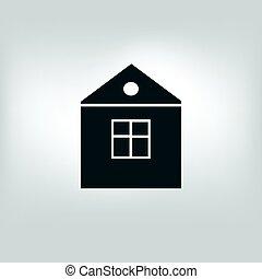vector icon house, building