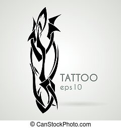 Vector icon in the style of tattoos