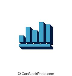 vector icon infographic, chart isometric. 3d sign isolated on white background.