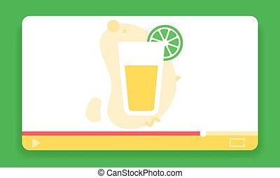 vector, icon., jugador, nutrición, topic, sano, plano, ...