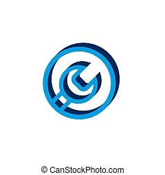 Vector icon keysisometric. 3d sign isolated on white background.