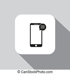 vector icon mobile phone