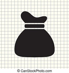 vector icon money bag