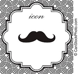Vector icon mustache on a geometric background of eps