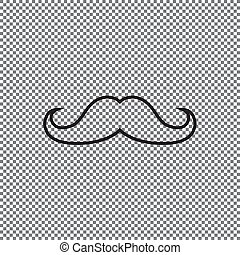 Vector icon mustache on a transparent background