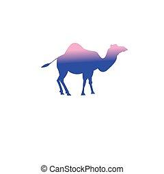 Vector icon of a camel