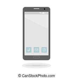 Vector icon of a modern smartphone in trendy flat style.