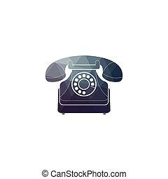 Vector icon of a retro phone.