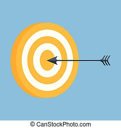 Vector icon of a target with an arrow.