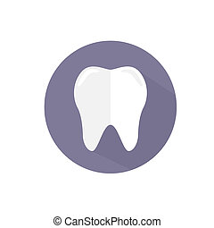 Vector icon of a tooth