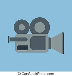 Vector icon of a video camera.