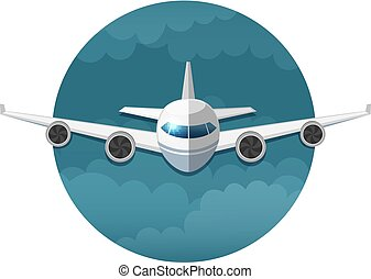 Vector icon of airplane