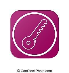 Vector icon of an abstract key. Simple design for the site and app.