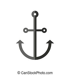 Vector icon of an anchor for mobile and web applications.