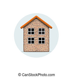 Vector icon of brick house