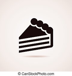 vector icon of cake slice