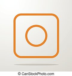 vector icon of camera. Simple illustration for application