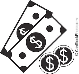 Vector icon of cash money