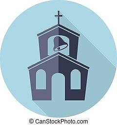 vector icon of church