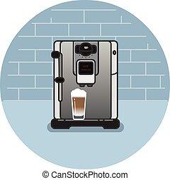 Vector icon of coffee machine