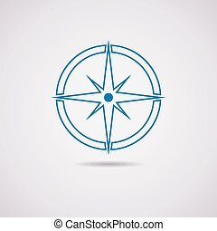 vector icon of compass