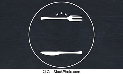 Vector icon of fork and butter knife 4k - Vector icon of ...