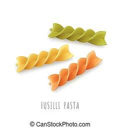 Vector icon of fusilli pasta.