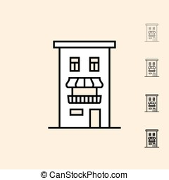 Vector icon of Home - Home icon. Vector icon in four...