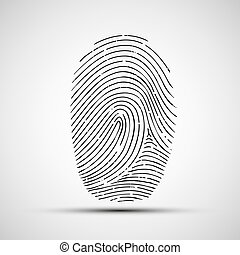 Vector icon of human finger print