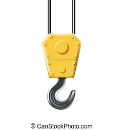 Vector icon of industrial hook