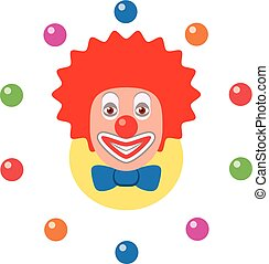 vector icon of juggling clown